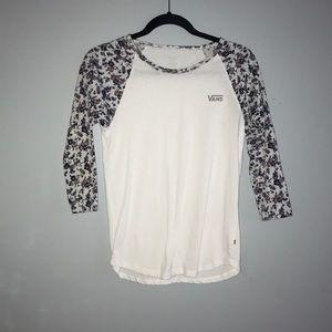 VANS 3 quarter sleeve shirt